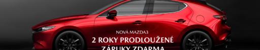 Mazda3 – Prodloužená záruka zdarma